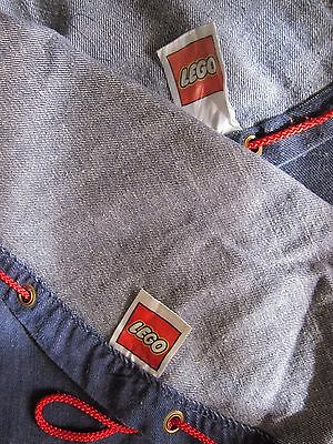 Lot of 2 LEGO Classic Original 1970 Denim Toy Bag and Play Mat Hangs for Storage