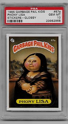 1985 Garbage Pail Kids Series 2 GLOSSY PHONY LISA #67a PSA 10 GEM MINT POP 6