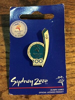 Sydney 2000 Olympic Games Pin  - 100 Days To Go