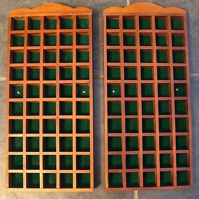 2 Thimble Display Cases Wooden In Good Condition