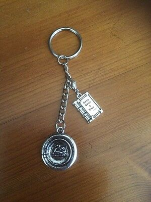 Once Upon A Time Emma Swan Inspired Pendant & Story Book Bag Fob Key Chain