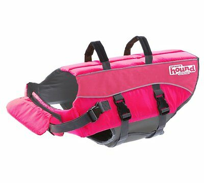 Outward Hound Pink Ripstop Life Jacket Dog Life Preserver, Extra Small