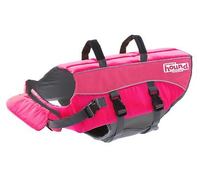 Outward Hound Pink Ripstop Life Jacket Dog Life Preserver, Small