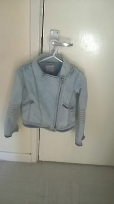 Girls Jeans Jacket biker style from Next size 10 year old