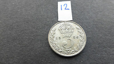 George v silver threepence coin 1926 key date good grade 12