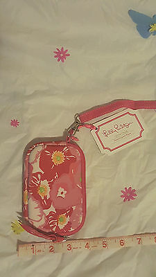 NWT Lilly Pulitzer  Tech Wristlet Beach Pool wallet I.D. card Case pink