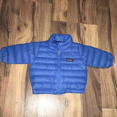 Patagonia Baby Blue Packable Goose Down Zip Winter Jacket Size 3 Months