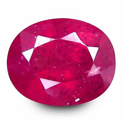 1.70 Ct Amazing Fire Oval Cut 7 x 5 mm Unheated Untreated Ruby Loose Gemstones