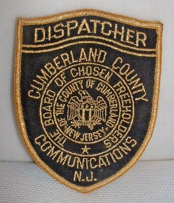 Cumberland County NJ Communications Dispatcher Embroidered Patch - New & Unused