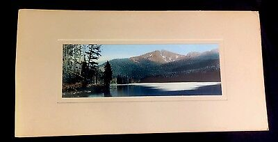 Vintage Hand Painted Photo: FJ Haynes Sylvan Lake, Top Notch Peak Yellowstone MH