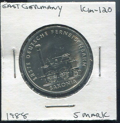 G. D. R. - Fantastic Germany's First Railroad 5 Marks, 1988 A