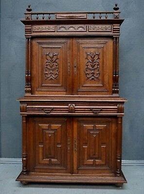 Antique French Henri style Renaissance buffet / cabinet / dresser