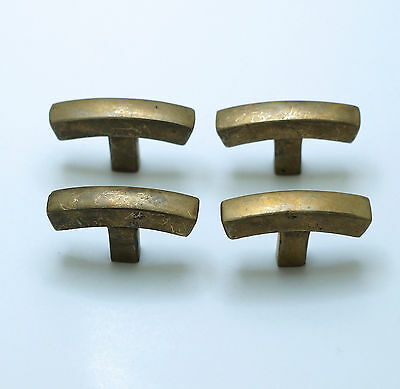 "1.77"" inches 4 pcs Vintage Retro Bend Arched Solid Bar Knobs Handle Cabinet Pull"