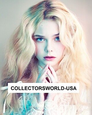 """Elle Fanning """"maleficent"""" 8X10 Color Photo (Pretty Young Actress) 8"""