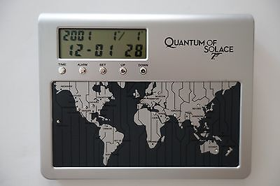 James Bond 007 Quantum of Solace World Travel Digital Alarm Clock