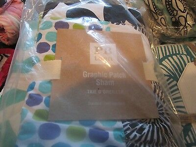 2 Pottery Barn Teen Graphic Patch  standard shams New with tags