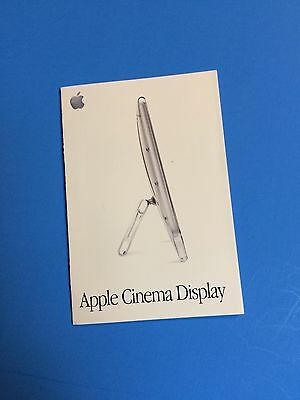A small Apple Cinema Display booklet- 1999