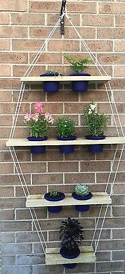 4 Tier Pentagon Planter Pot Holder Vertical Hanging Garden Succulent Garden