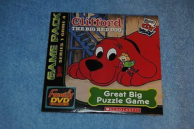 Clifford The Big Red Dog Wendys Kids Meal DVD Great Big Puzzle Game New Sealed