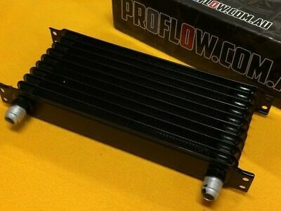 "14x5"" 10 Row AN10 Engine oil cooler universal aluminum -10AN black"