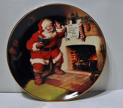 """Coca Cola """"The Pause That Refreshes"""" Plate by 1993 Franklin Mint"""