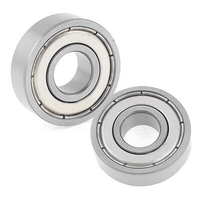 2 Pcs 6000Z Dual Shielded Sealed Deep Groove Ball Bearings 26mm x 10mm x 8mm LW