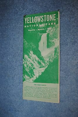 Vintage 1961 Yellowstone National Park Travel Brochure with Map