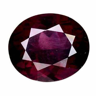 9.060Cts EXTRAORDINARY LUSTER PURPLE RED NATURAL RHODOLITE GARNET  OVAL GEMSTONE