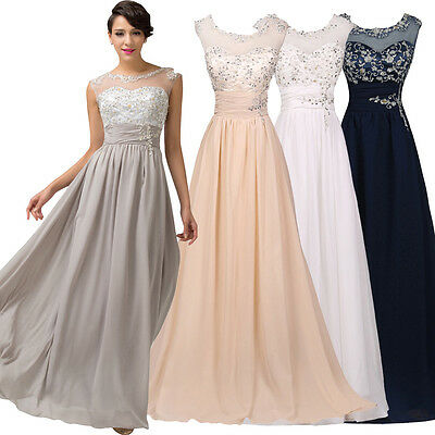 NEW DRESS Formal Long Bridesmaid Wedding Evening Party Cocktail Gown Prom Dress