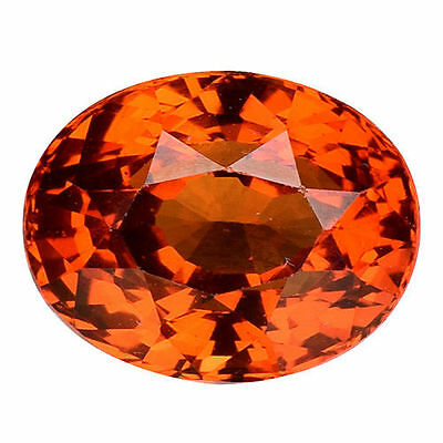 1.96Cts MESMERIZING LUSTER ORANGY BROWN NATURAL CERTIFIED HESSONITE GARNET OVAL