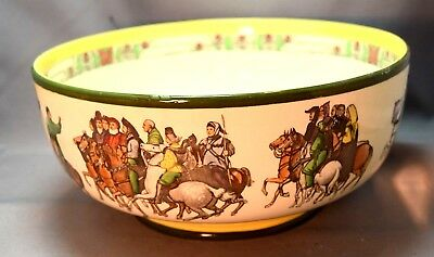 EXQUISITE LARGE Royal Doulton Series Ware Chaucer's Cantebury PIlgrams Bowl!