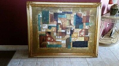 Framed Hand-Painted Modern Wall Decor Art Abstract Oil Painting On Canvas