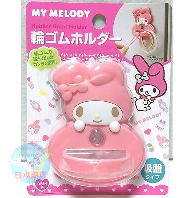 SANRIO MY MELODY KAWAII Happy Cute Rubber Band Holder Sucker Type from JAPAN