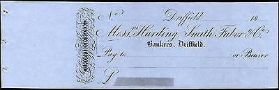 Messrs Harding, Smith, Faber & Co, Bankers, Driffield, Unused with c/foil, 18-.