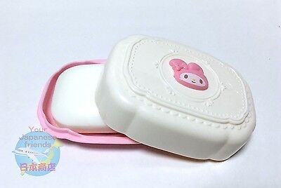 SANRIO MY MELODY KAWAII Cute Soap Dish Box Case with Lid Plastic AIRMAIL JAPAN