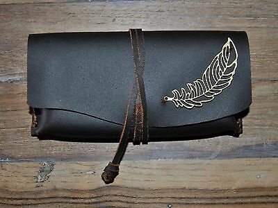 Pitillera para tabaco de liar Artesanal,Crafted Leather Rolling Tobacco Pouch