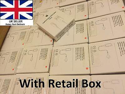 Lot of 50 x Apple iPhone 6 6Plus 5 5S  Lightning USB Charger Data Cable 2 Metre