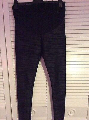 maternity leather look leggings size 10