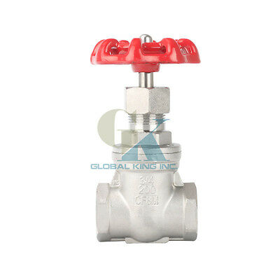 "3/4"" BSPP ​Stainless Steel 304 Gate Valve 232Psi full Port Water oil gas"
