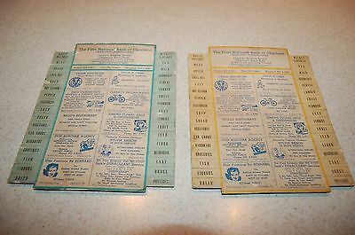vintage First National Bank advertising card