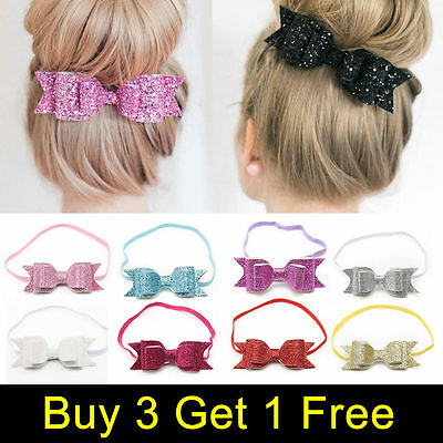 Sweet Baby Girls Kids Hairband Bow Elastic Band Headband Hair Accessories