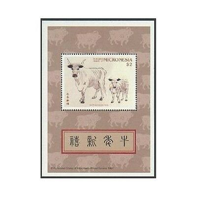 Micronesia 258 sheet,MNH.Michel 530 Bl.19. New Year 1997,Lunar Year of the Ox.