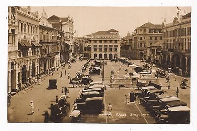 SINGAPORE - Raffles Place; vintage real photo card.