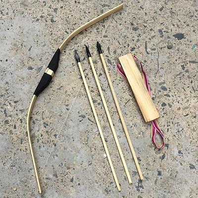 Children/Kid Archery Role Play 3 Arrows &  Quiver & Wooden Safe Bow Set/Ki Z タ