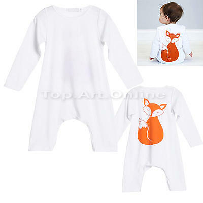 Newborn Infant Baby Boy Girl Romper Hooded Jumpsuit Bodysuit Cute Clothes Outfit