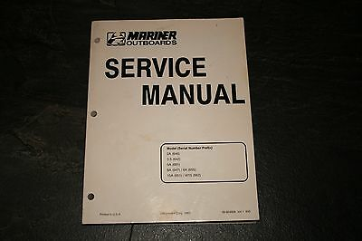 1993 Mariner outboard service manual