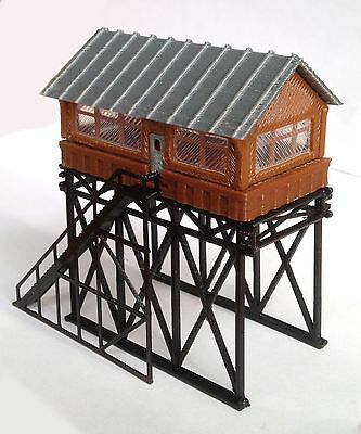 Outland Models Train Railway Layout Station Overhead Signal Box / Tower Z Scale