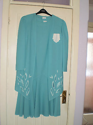 TRUE VINTAGE 1980s  DRESS and  JACKET  Mother of the Bride