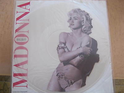 MADONNA ''HOLIDAY 1991'' UK LIMITED 12'' PICTURE DISC EX RARE COLLECTOR No Promo
