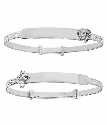925 Sterling Silver Childrens Baby Christening Expanding Bangle*FREE ENGRAVING*